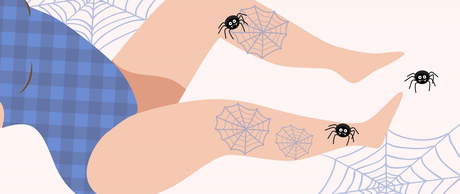 藍色蜘蛛網